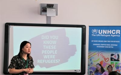 UNHCR MUN Refugee Challenge inspires Kazakhstan youth to design solutions for refugee problems