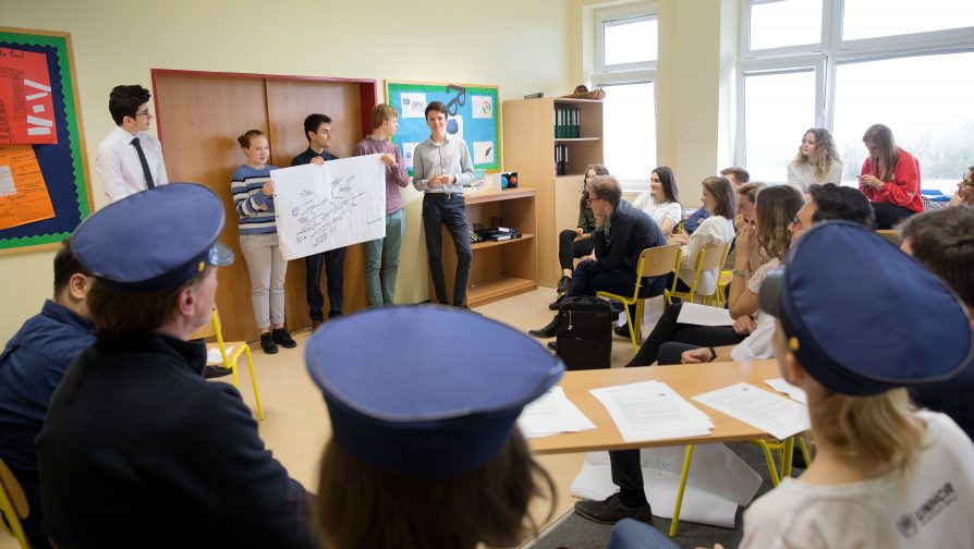 Prague students play out an ordeal that is real for refugees