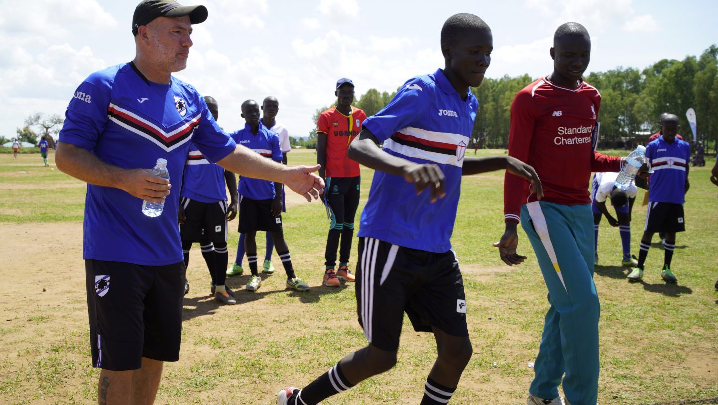 Uganda.  Three days football training for refugees and host community in West Nile with the Sampdoria Camp coaches.