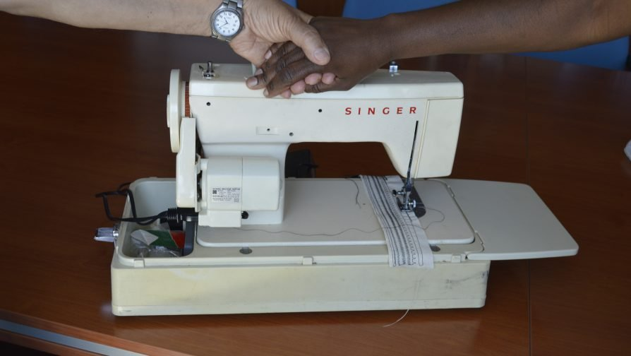"""A """"forgotten"""" sewing machine a gives breath of hope to Celine, an asylum-seeker for 8 years in Cyprus"""
