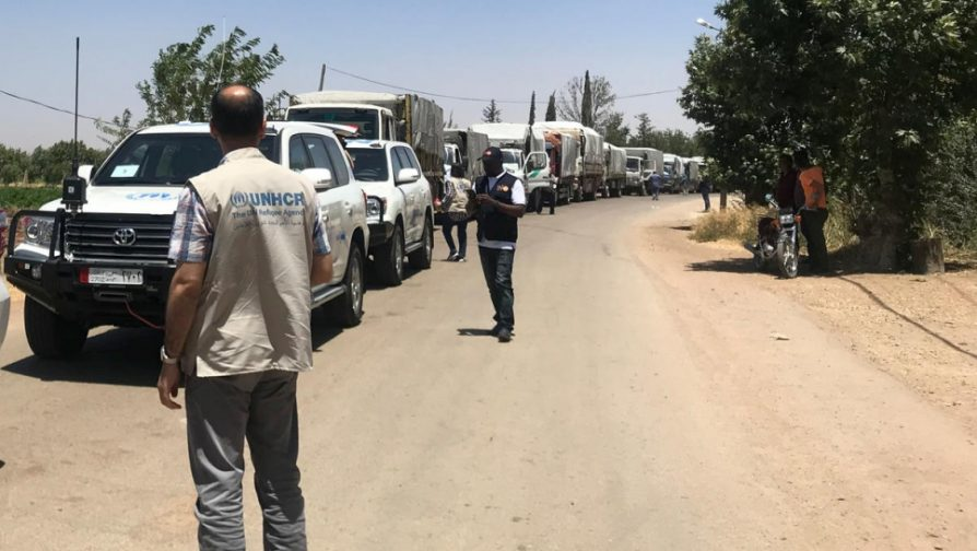 UNHCR appeals for safe passage for civilians in southern Syria, says international standards on refugee returns essential