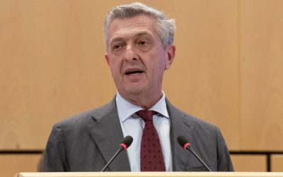 Grandi urges boost for multilateralism to tackle record displacement