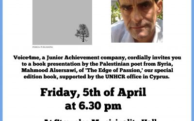 Poetry event: Mahmood Alsersawi, Palestinian refugee from Syria, shares his newly published work