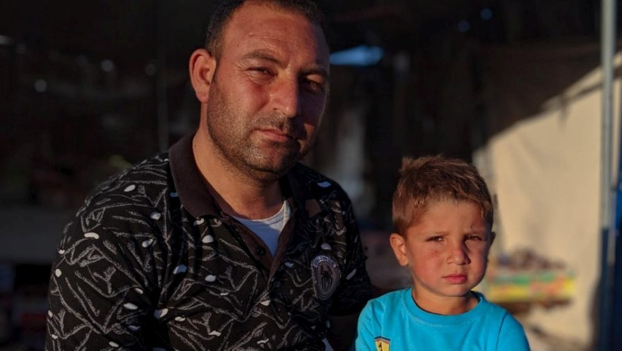 For one man, fifth exile from north-east Syria drains all hope