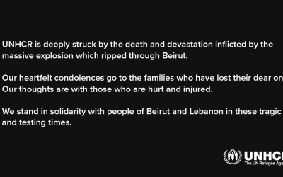 Statement attributable to UN High Commissioner for Refugees Filippo Grandi on the explosions in Beirut, Lebanon