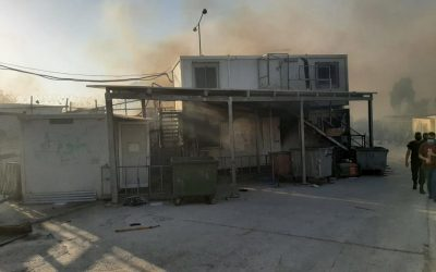 UNHCR shocked by fires at Moria asylum center, ramping up support for affected asylum seekers