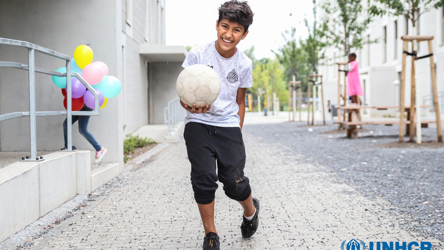 Germany. Shoaib from Afghanistan loves football which is the one constant in his life (The Dream Diaries)