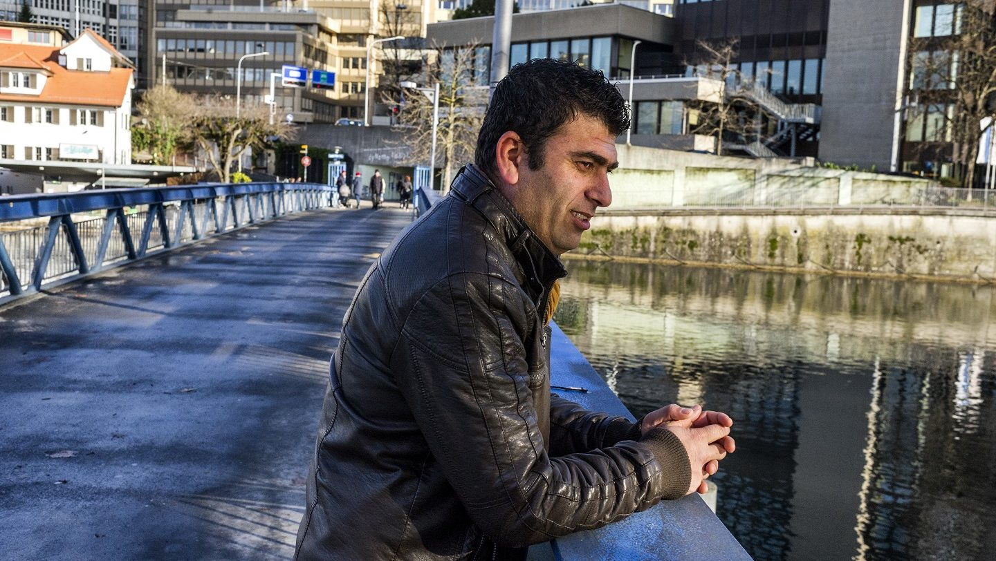 Switzerland. Tofik a stateless Kurdish Syrian building a life in Zurich