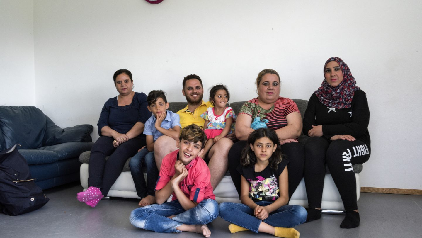 Switzerland. Syrian family reunited thanks to a specific decision of the Swiss government on family reunification for Syrian nationals