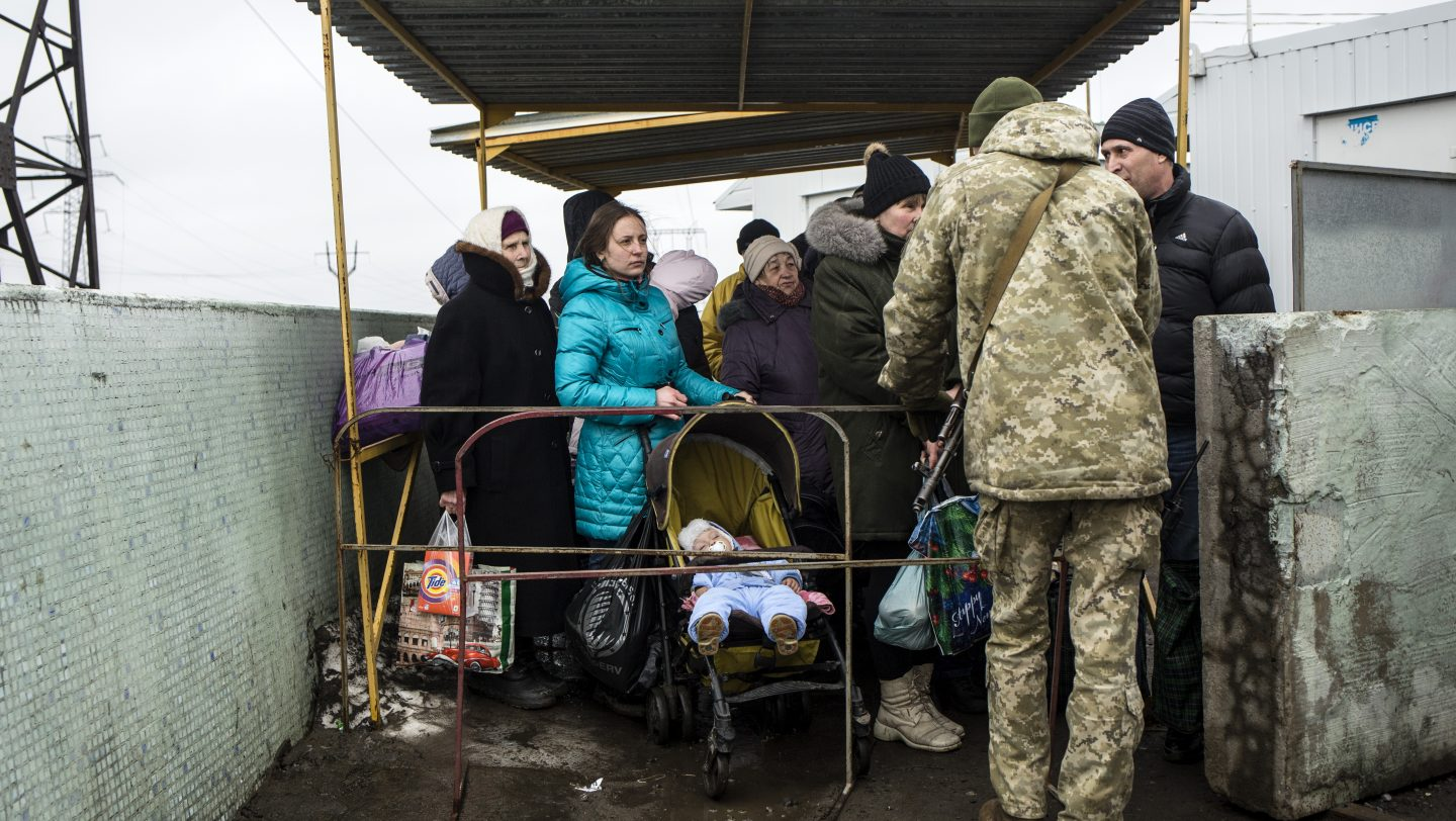 Ukraine. Life is a daily battle for families in conflict zone