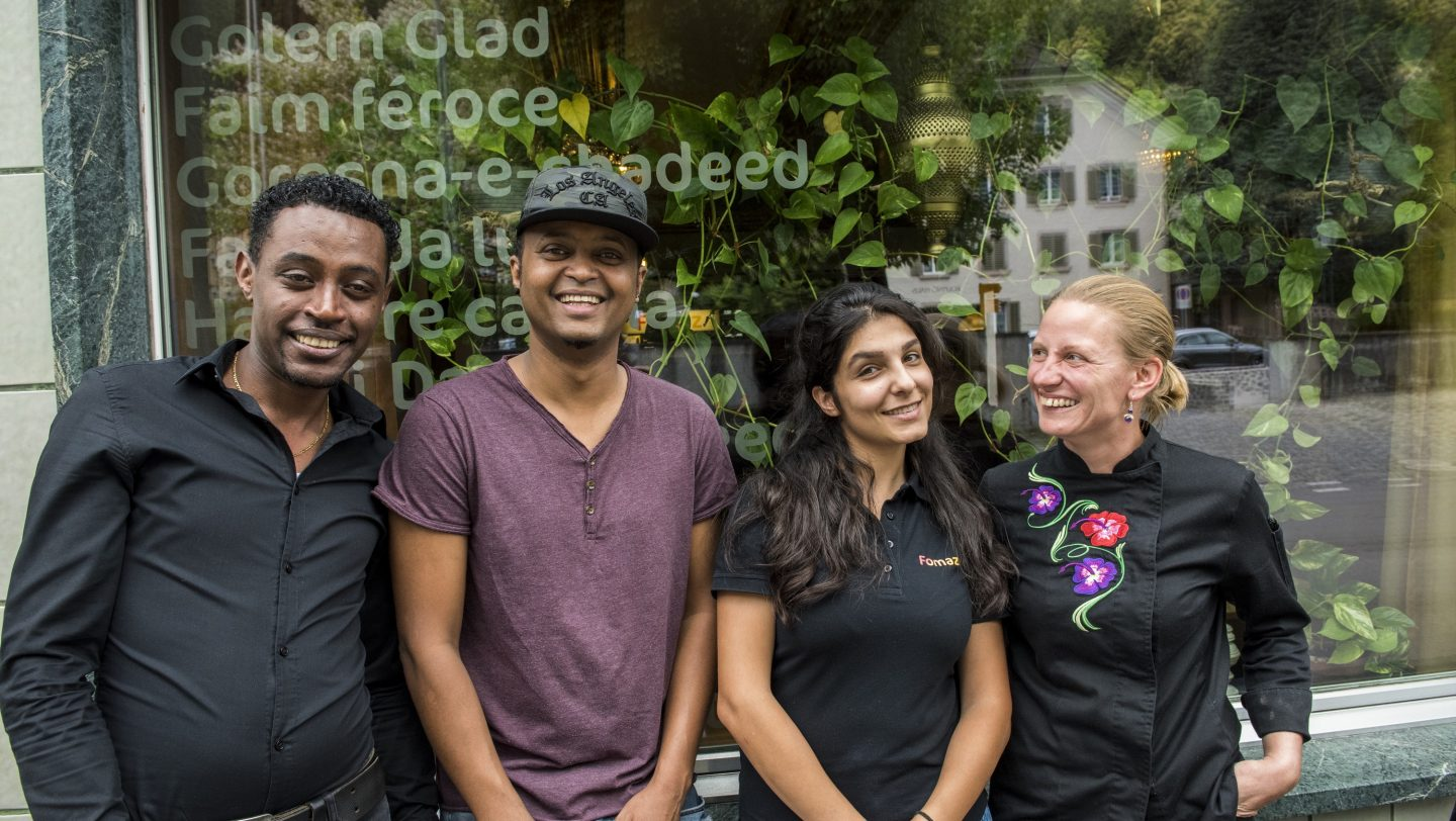 Switzerland. Training and integration of refugees in Swiss heartland through restaurant training