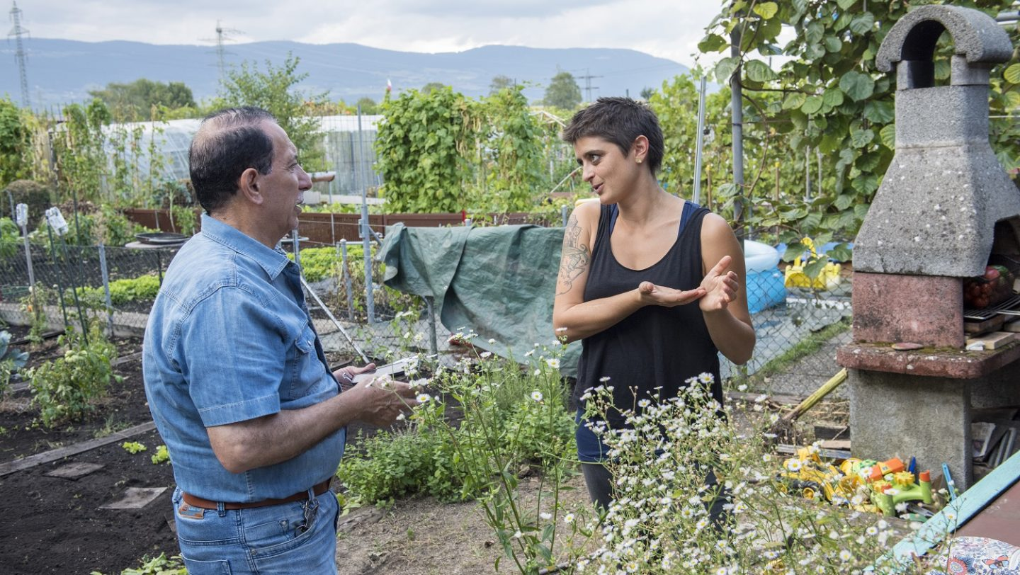 Switzerland. Integration of refugees through a gardening project