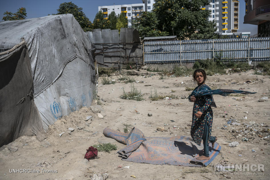 Afghanistan. Returnees from Pakistan live in a camp in Kabul