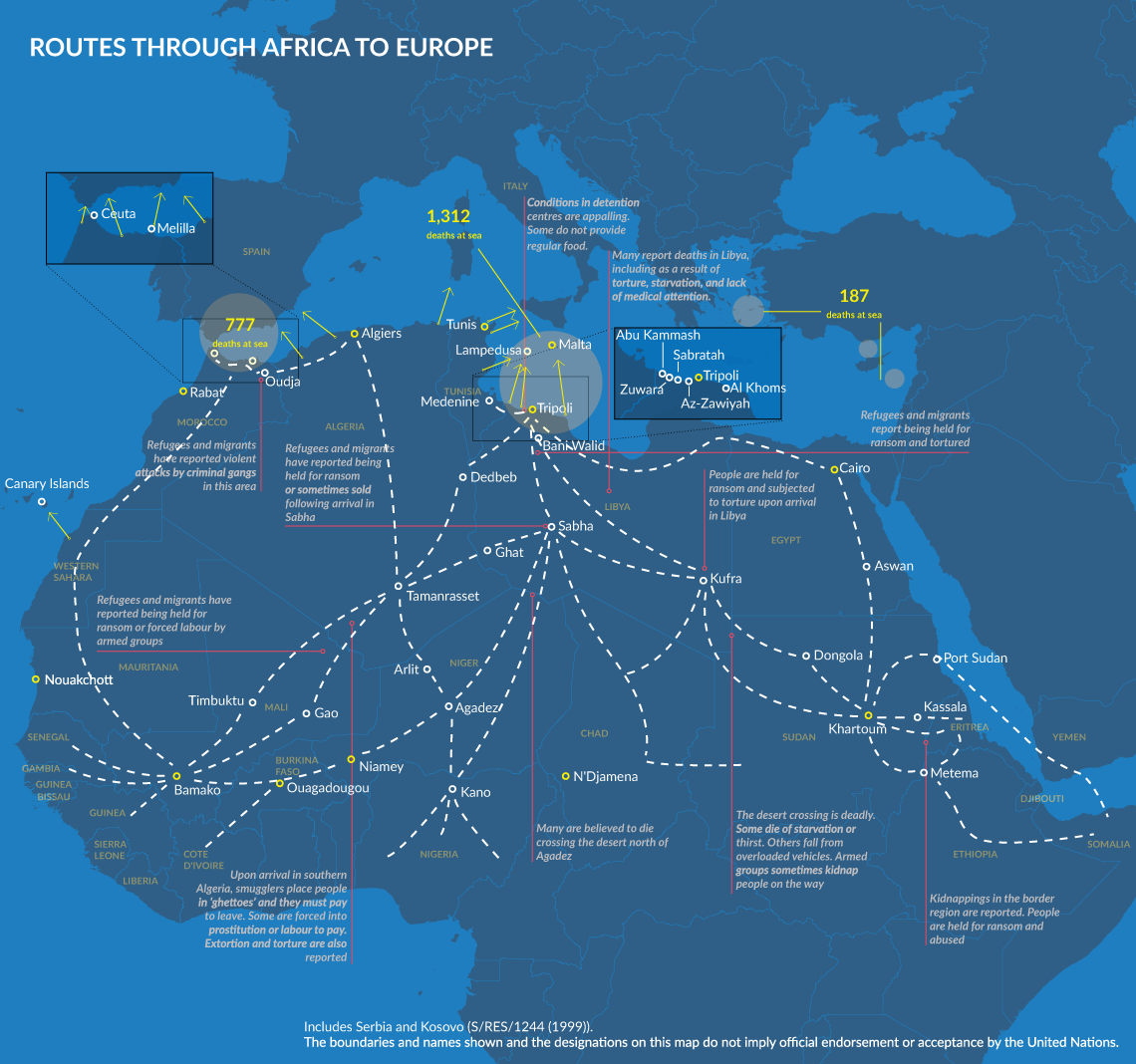 DESPERATE JOURNEYS - Refugees and migrants arriving in
