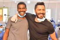 Tamer Hosny Meets Refugees in an Egyptian Factory