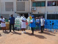 UNHCR Ghana donates in support of government's efforts at battling covid-19 in Ghana
