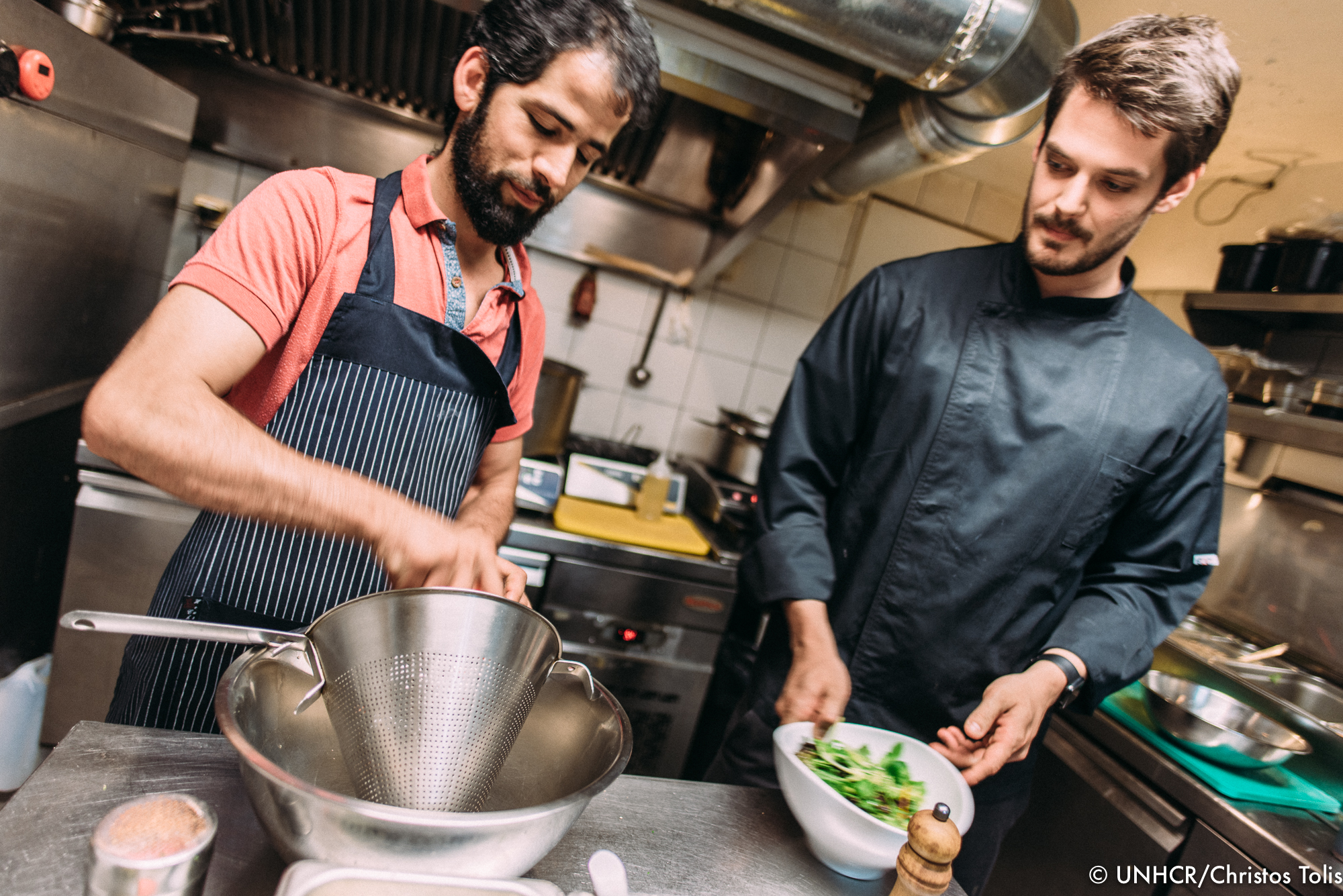 Reza Golami is cooperating with the chef Ilias Stavropoulos to prepare an Afghan menu with a Greek touch.