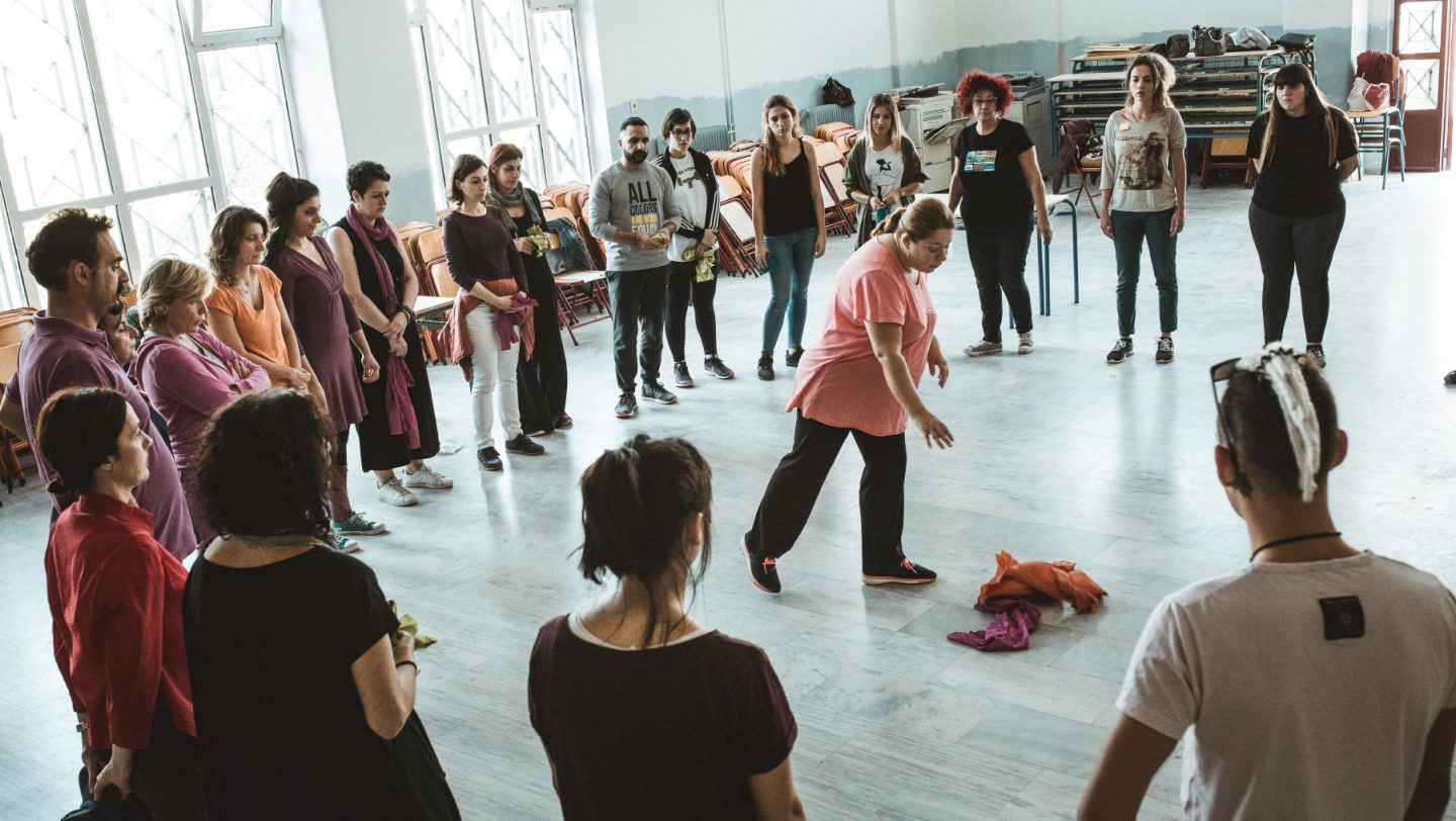Greece. Teachers and students of primary and secondary education take part in a three day educational workshop on refugees and human rights using experiential learning, theatre and educational drama techniques