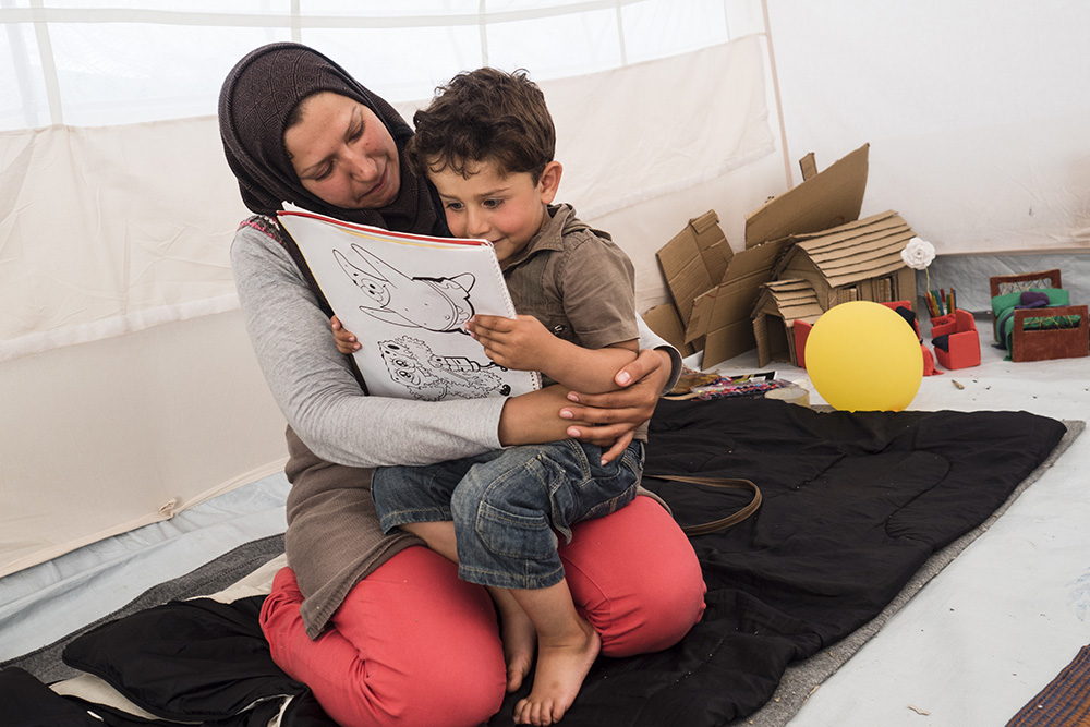 Greece. After fleeing Syria with her three children, Wafaa Tabra dreams of reuniting with her husband in Germany