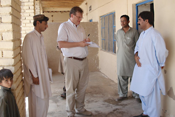 Free at Last: John Solecki at work in Pakistan before his two-month abduction ordeal. © UNHCR/M.Farman-Farmaian