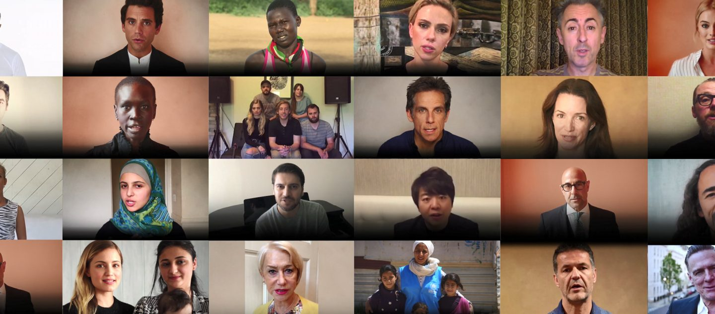 'WithRefugees Celebrities Appeal Video