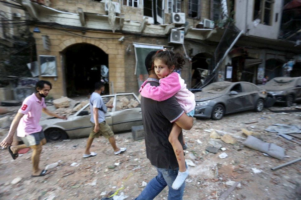UNHCR rushes support for Beirut in the aftermath of massive blast