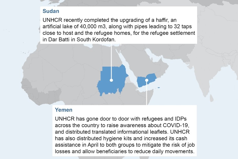Highlights of our response to the coronavirus (COVID-19) pandemic (May 2020) © UNHCR