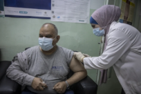 Refugees receive COVID-19 vaccinations in Jordan