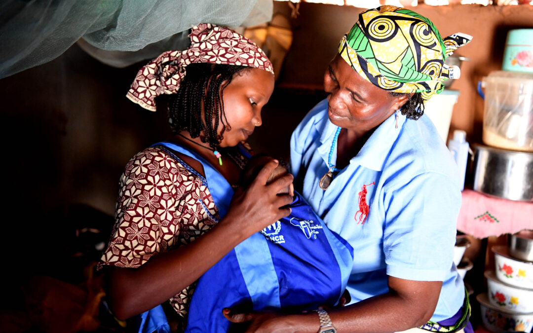 Kangaroo care brings hopes of survival to premature babies in refugee camps
