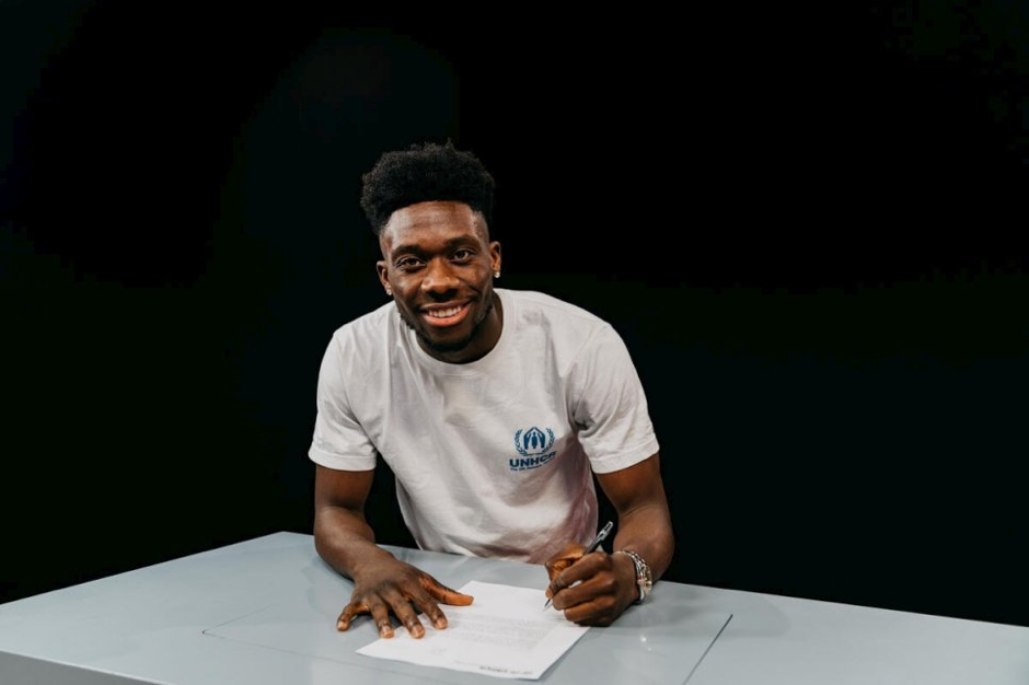 Alphonso Davies becomes the first footballer to take UNHCR's Goodwill Ambassador title