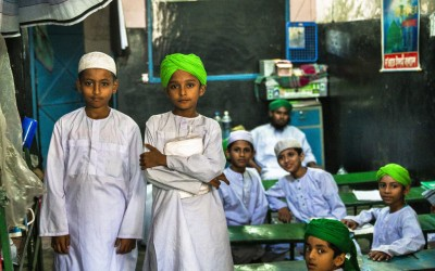 Despite a 2008 Constitutional Court judgment confirming the Bangladeshi citizenship of Urdu speakers, a long history of statelessness and exclusion means that a madrassa (Islamic school) is the only place that many of the children in the Geneva Camp of Mohammadpur in Dhaka can access primary school education.  UNHCR / Syed Latif Hossain