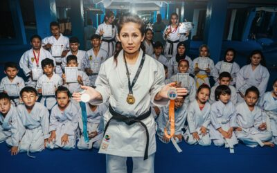 In Indonesia, a female refugee karate champion and trainer is inspiring others