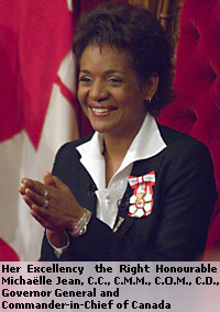Governor-General of Canada Michaëlle Jean