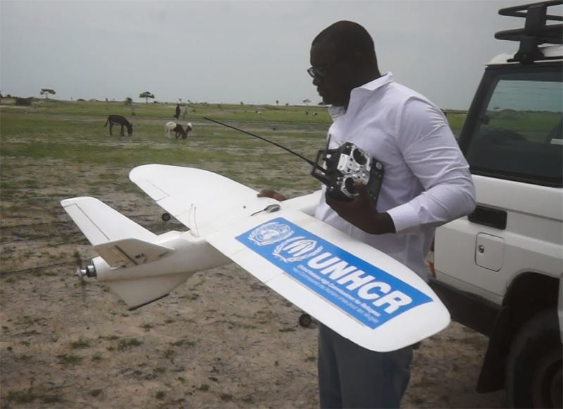 Aziz Kountche is a self-taught Nigerian 'drone mapping' expert currently working with UNHCR to help map displaced populations in Niger.