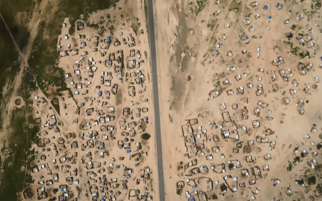 Taking to the skies: displacement, drones, and maps