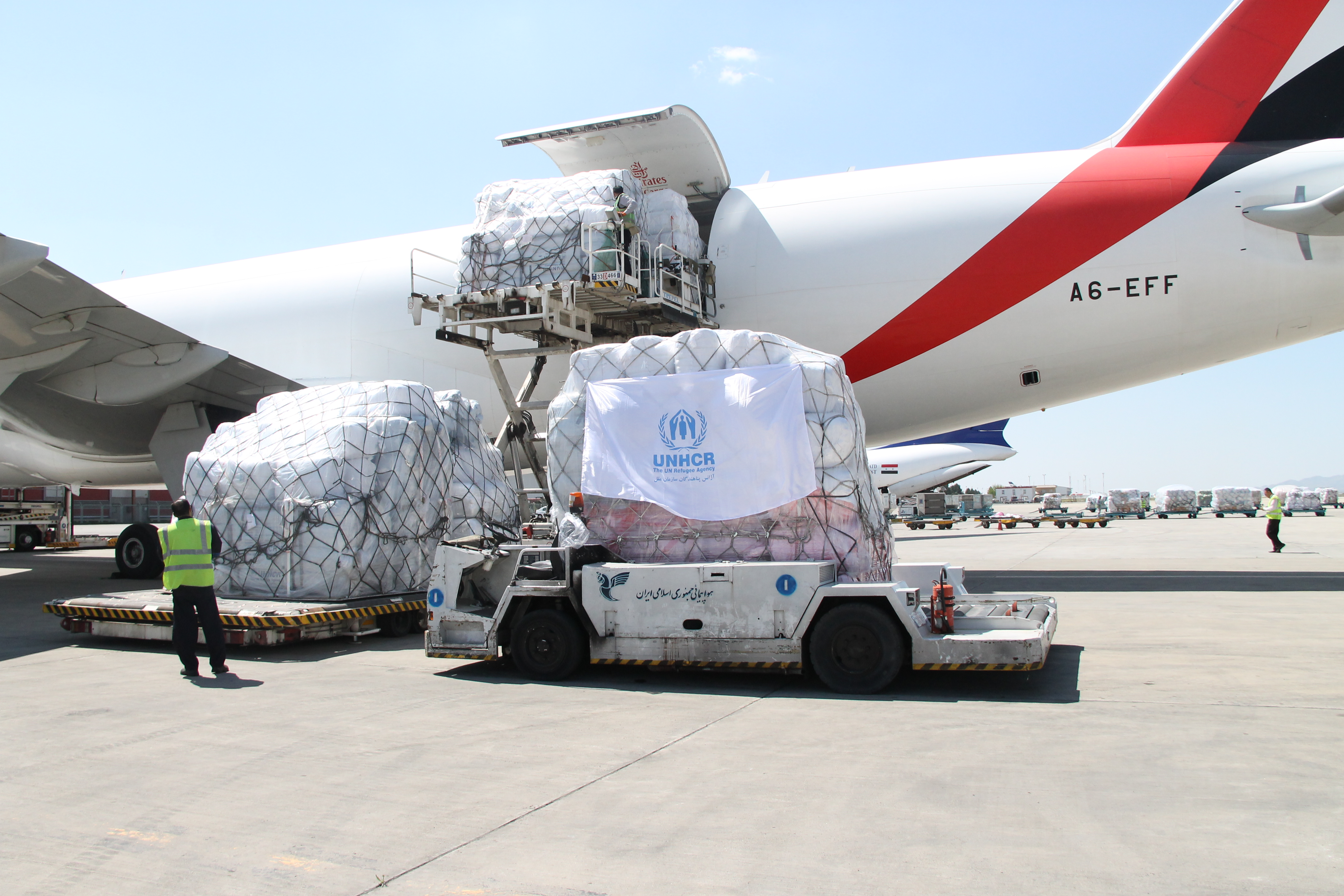 Unhcr Iran Air Freight Of Aid Lands In Tehran To Contribute Towards Government Led Flood Relief Efforts Unhcr Iran