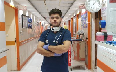 Refugee nurse on the front line against Coronavirus in Iran