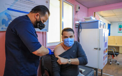 Athirdof refugees eligible for COVID-19 Vaccine have been vaccinated in Jordan's refugee camps