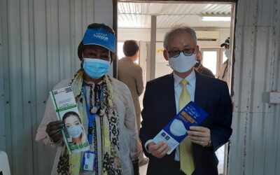 UNHCR distributes 150,000 masks donated by the Korean government for Syrian refugees in Jordan