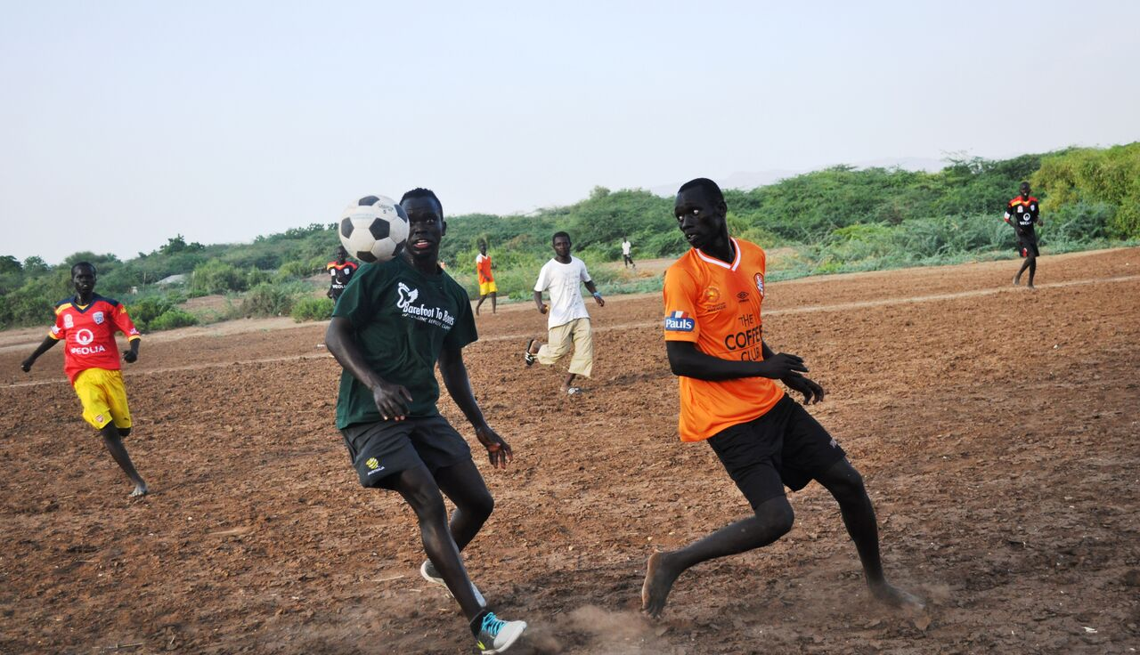 "Football Star Launches ""Barefoot to Boots"" Initiative in Kakuma"