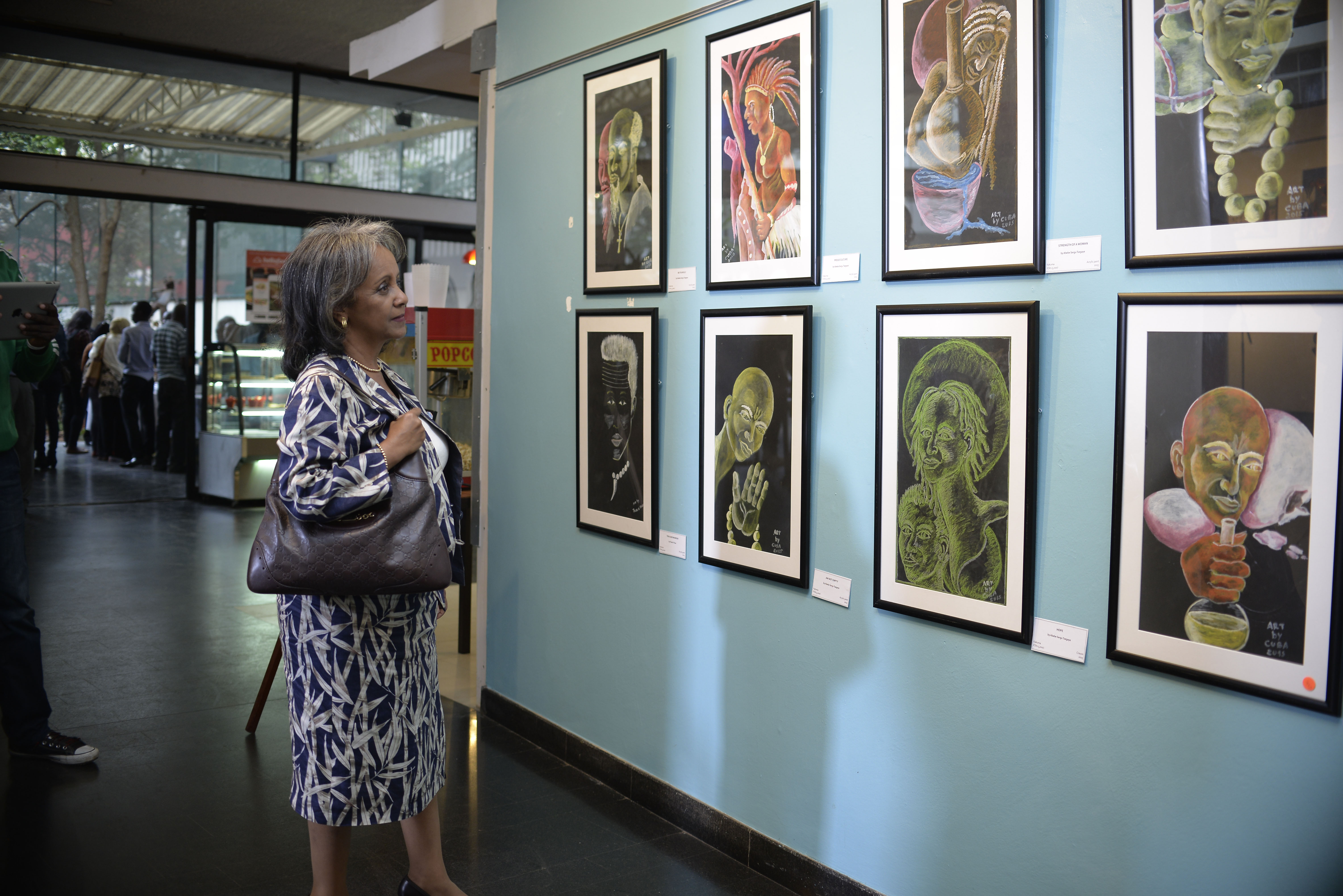 Talented Refugees in Kenya Showcase their Artwork at an Exhibition in Nairobi