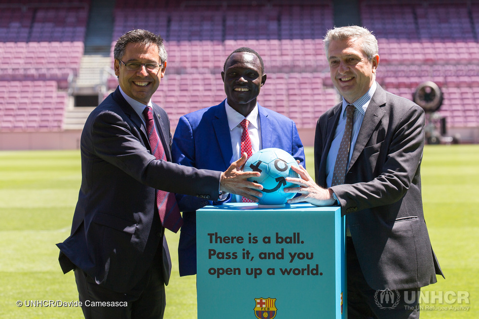 The FC Barcelona Foundation and UNHCR Launch Campaign in Support of Refugee Children