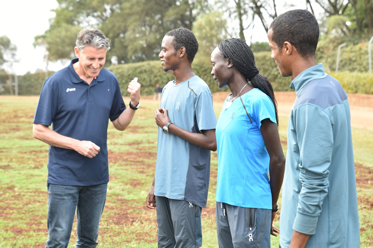 International Association of Athletics Federations (IAAF) President meets with refugee athletes in Kenya