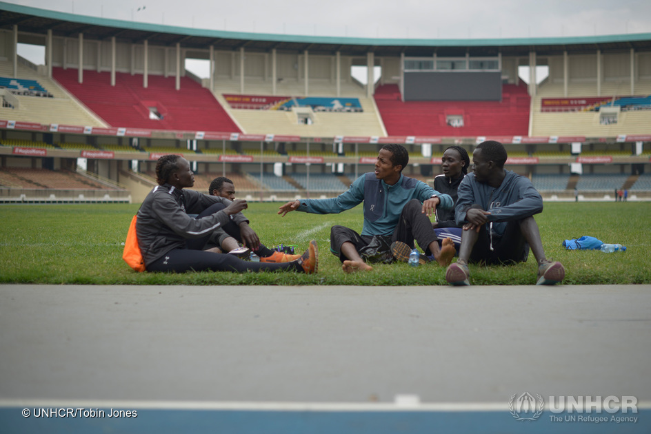 Kenya. The Refugee Olympic Team athletes join the Kenya National Team's training session in Nairobi