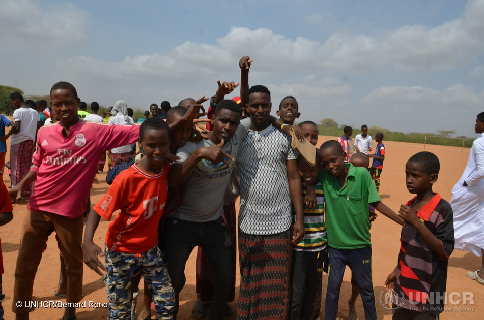 Kenya. Football Match at Ifo Camp, Dadaab.