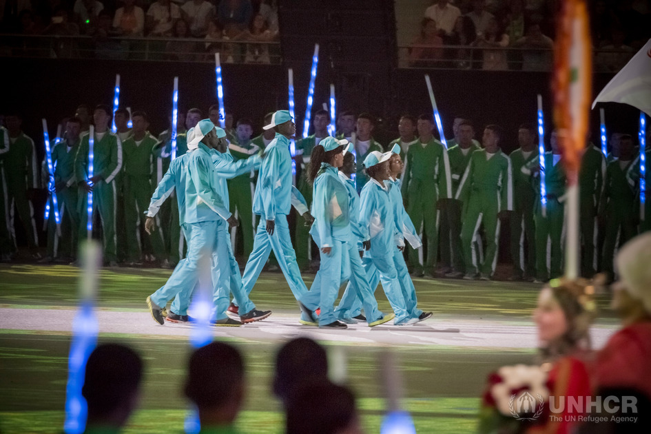 Turkmenistan. Refugee athletes participate in the 2017 Asian Indoor and Martial Arts Games (AIMAG) in Ashgabat