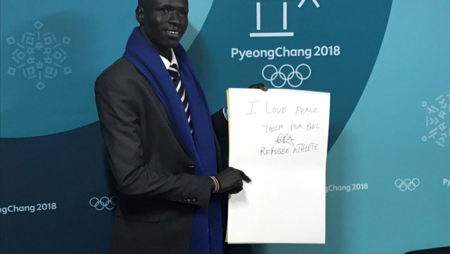 Refugee athlete shares message of peace in South Korea