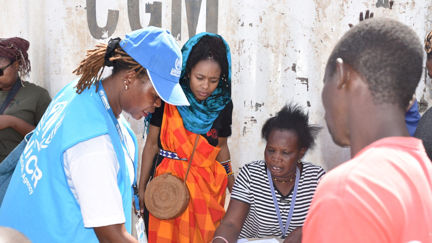 Nomzamo visit to Kakuma refugee camp
