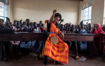 Popular South African actress and model Nomzamo Mbatha visits Kenya in support of refugees