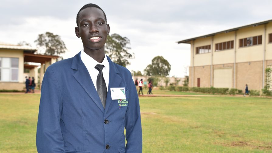 Gieu Ayiik Ajak, originally from South Sudan wants to be a doctor, and specialize in stem science. He is in the leadership program and thrives in his role as the resource coordinator for his class. ©UNHCR/Caroline Opile